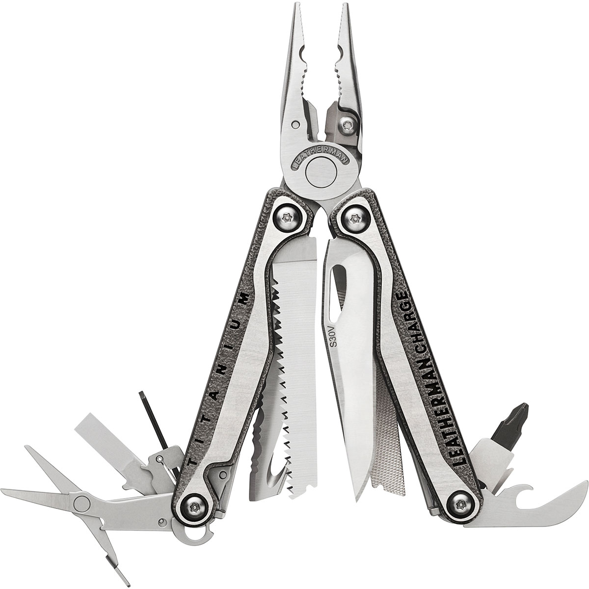 Мультитул Leatherman Charge Plus TTI, цвет: металлик мультитул leatherman charge plus tti чардж плюс тти