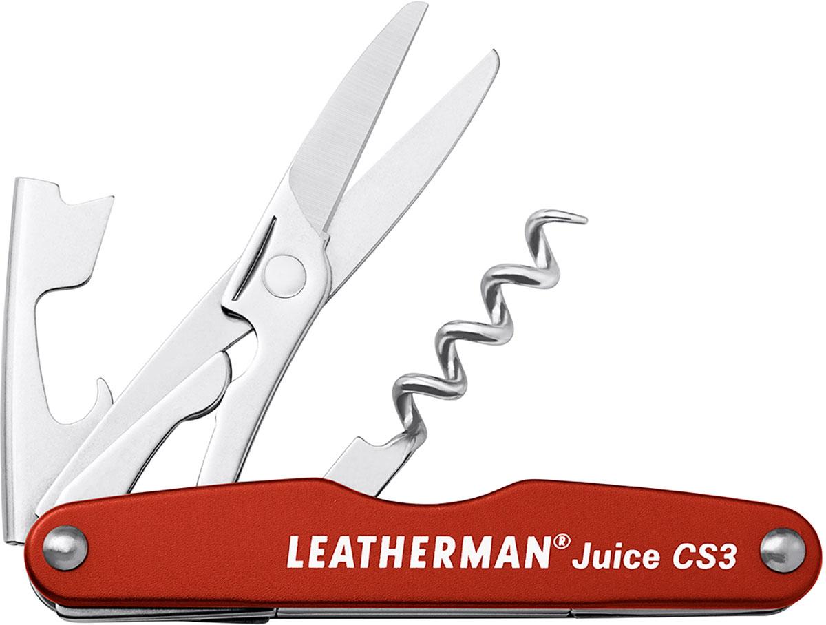 Мультитул Leatherman Juice Cs3, цвет: оранжевый мультитул leatherman juice xe6 green 831960