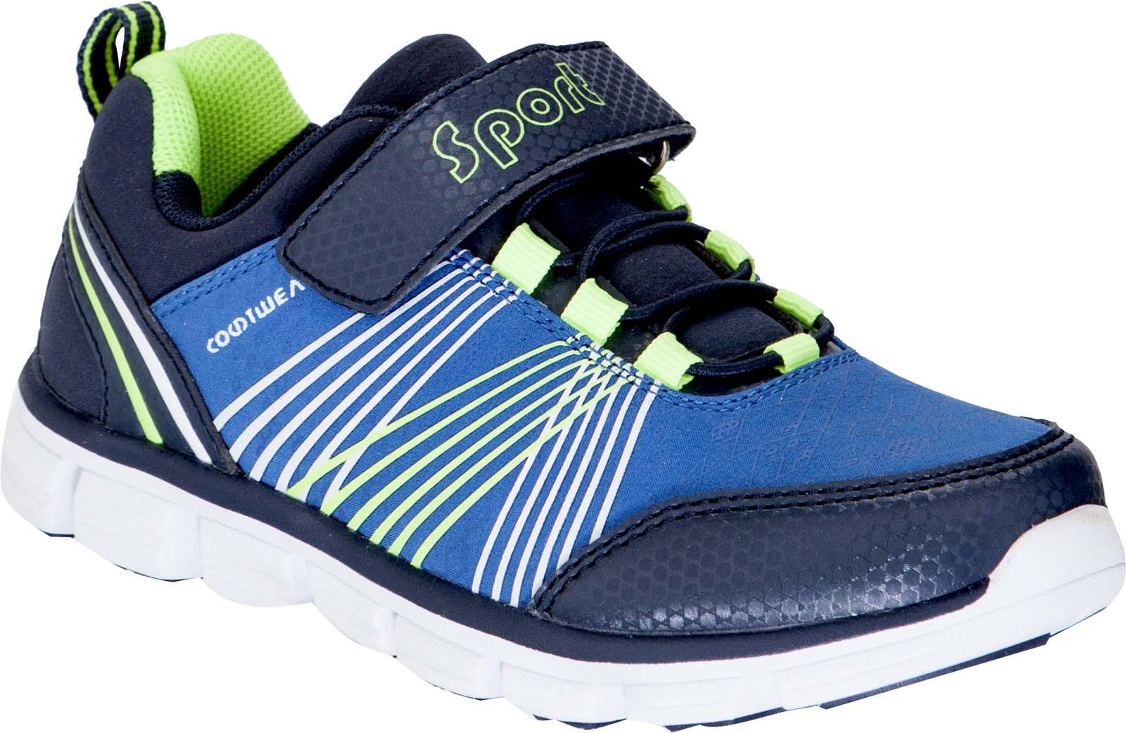Кроссовки для мальчика Kapika, цвет: синий, салатовый. 73348. Размер 3273348Кроссовки от Kapika займут достойное место в гардеробе вашего ребенка! Модель изготовлена из текстиля и искусственной кожи. Классическая шнуровка и хлястик на липучке, обеспечивают надежную фиксацию обуви на ноге. Внутренняя поверхность из текстиля, обеспечивает комфорт и предотвращает натирание. Стелька из кожи и текстиля сохраняет комфортный микроклимат в обуви. Рифленая поверхность подошвы защищает изделие от скольжения. Стильные и в то же время удобные кроссовки - необходимая вещь в гардеробе каждого ребенка.