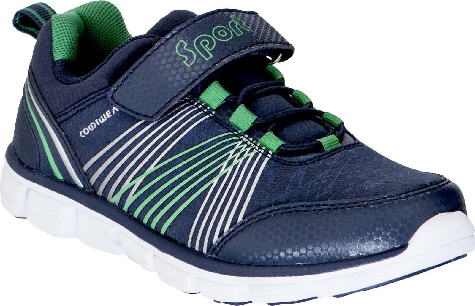 Кроссовки для мальчика Kapika, цвет: темно-синий, зеленый. 73348. Размер 32