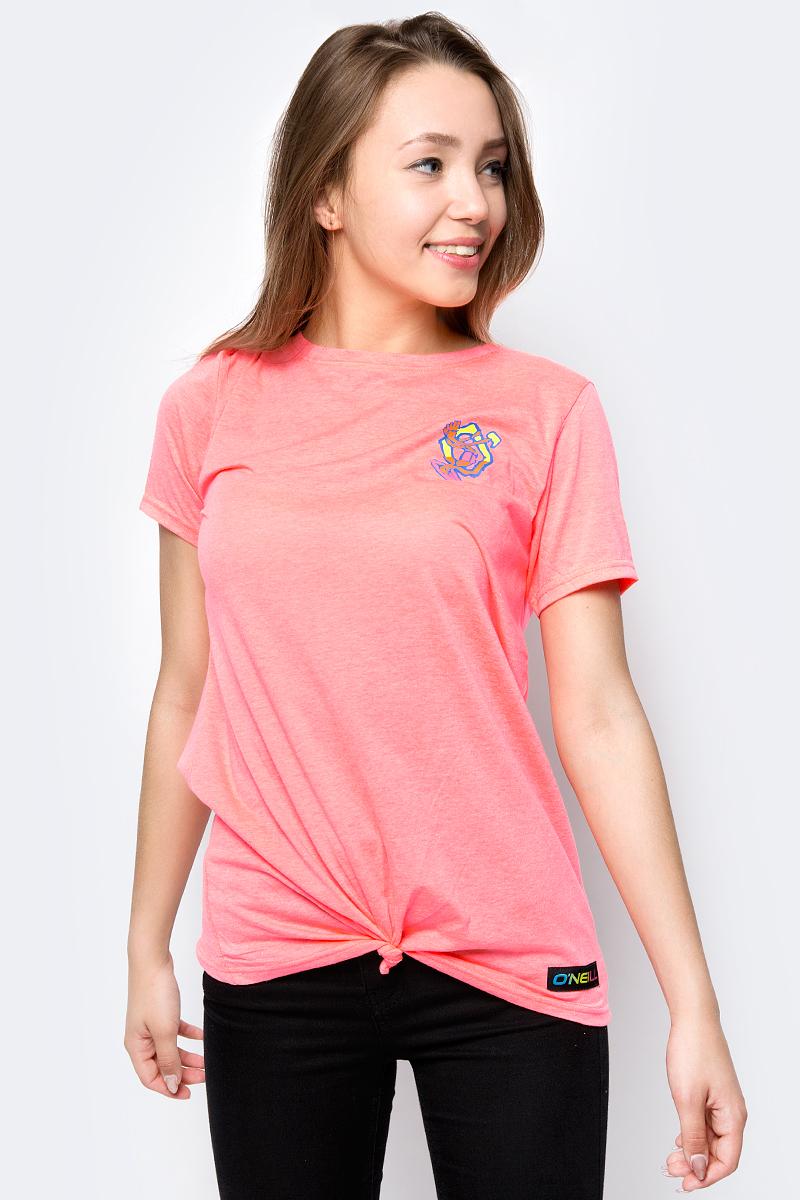 Футболка женская O'Neill Lw Re-Issue T-Shirt, цвет: розовый. 8A7322-3350. Размер XS (42/44) футболка женская o neill lw s slv logo t shirt цвет розовый 7a8651 4076 размер xs 42 44
