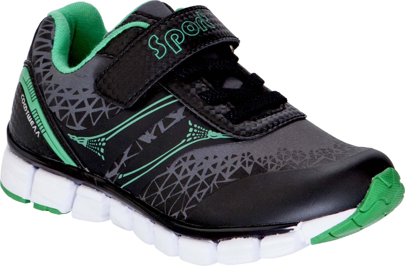 Кроссовки для мальчика Kapika, цвет: черный, зеленый. 73356. Размер 3173356Кроссовки от Kapika займут достойное место в гардеробе вашего ребенка! Модель изготовлена из текстиля и искусственной кожи. Классическая шнуровка и хлястик на липучке, обеспечивают надежную фиксацию обуви на ноге. Внутренняя поверхность из текстиля, обеспечивает комфорт и предотвращает натирание. Стелька из кожи и текстиля сохраняет комфортный микроклимат в обуви. Рифленая поверхность подошвы защищает изделие от скольжения. Стильные и в то же время удобные кроссовки - необходимая вещь в гардеробе каждого ребенка.