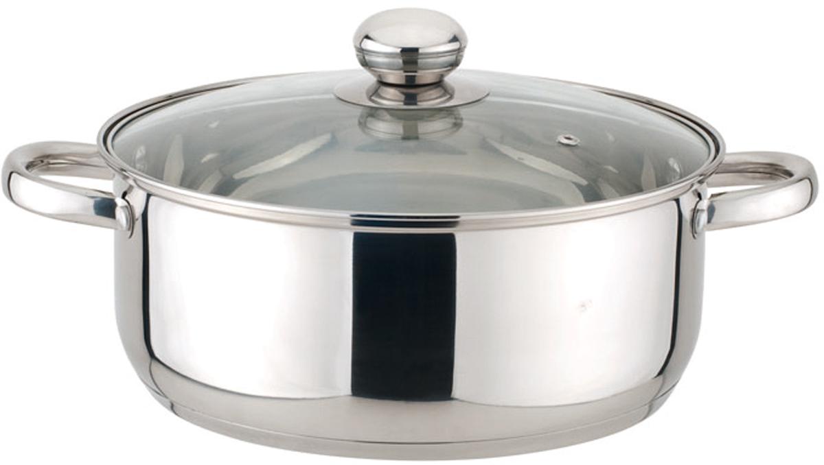 Кастрюля с крышкой, 6,1 л (24*13,5 см), Материал: нержавеющая сталь. Походит для всех типов плит, кроме индукции.