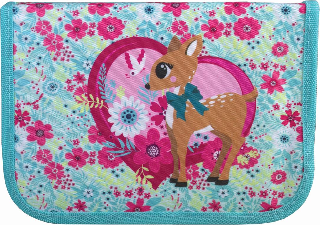 Tiger Family Пенал Deer Fantasy цвет зеленый 226959 пенал односекционный tiger family joyful birdie цвет бирюзовый 2920 tg