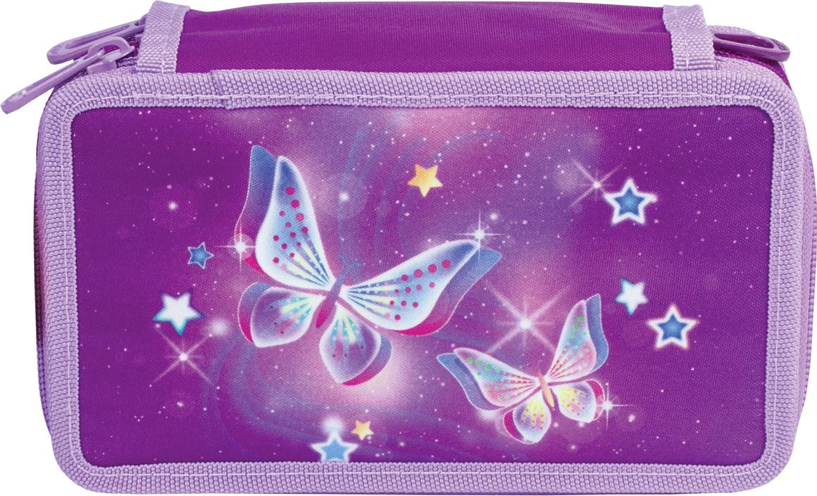 Tiger Family Пенал Starry Butterflies цвет фиолетовый 227005