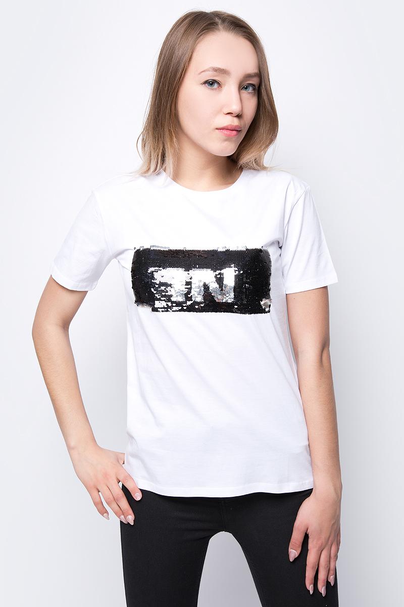 Футболка женская adL, цвет: белый. 17532987001_002. Размер XS (40/42) футболка женская adl цвет черный 17532987001 001 размер xs 40 42