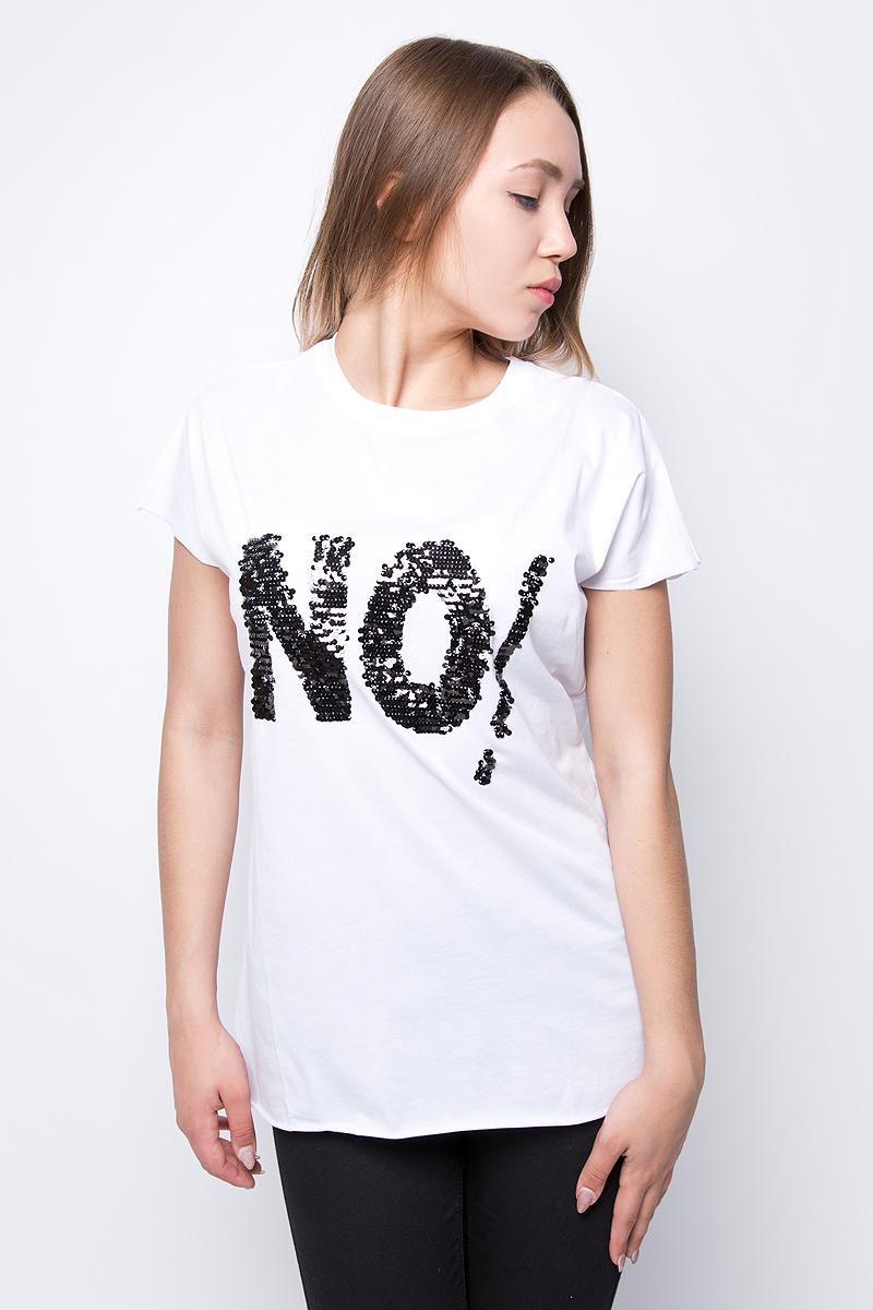 Футболка женская adL, цвет: белый. 17534267000_002. Размер XS (40/42) футболка женская adl цвет черный 17532987001 001 размер xs 40 42