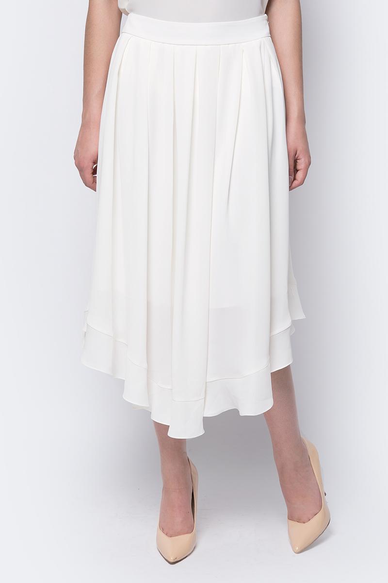 Юбка adL, цвет: молочный. 12733638000_019. Размер L (46/48)12733638000_019Стильная юбка от adL выполнена из легкого полиэстера. Модель с посадкой на талии, миди длины поможет создать элегантный образ. Изделие оформлено крупными складками.