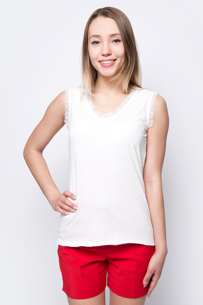 Блузка женская adL, цвет: бежевый. 11533451000_019. Размер XS (40/42) футболка женская adl цвет черный 17532987001 001 размер xs 40 42