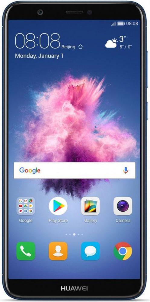 Huawei P Smart, Blue (Fig-LX1)51092DPLБезрамочный экран 5,65 смартфона Huawei P Smart с 2.5D стеклом обеспечивает реалистичную цветопередачу.При этом большой экран размещен в легком и компактном корпусе, устройство удобно лежит в руке.Функция умного разделения экрана позволяет открыть два приложения на экране одним нажатием. Теперь выможете отвечать на электронные письма или переписываться в чате, не прекращая смотреть фильм. С новымHuawei P Smart вам не придется отключаться от любимых дел!Двойная основная камера 13 МП + 2 МП обеспечивает высокое качество снимков. Режим широкой диафрагмыпозволяет делать максимально реалистичные фото, а также фото с эффектом боке.Специальный алгоритм украшения портретных фото фронтальной камеры позволяет создавать великолепныеселфи. Функция управления съемкой с помощью жестов позволяет сделать фото на Huawei P Smart по взмаху руки.Функция Huawei Share поддерживает быстрый обмен файлами между смартфонами Huawei. Для этого не требуетсяинтернет-соединение или сопряжение устройств вручнуюHuawei P Smart поддерживает одновременное подключение двух аудиоустройств Bluetooth. Вы можете соединитьсмартфон с мультимедийной системой автомобиля, отвечая на звонки с помощью Bluetooth-гарнитуры.Смартфон сертифицирован EAC и имеет русифицированный интерфейс меню, а также Руководство пользователя.
