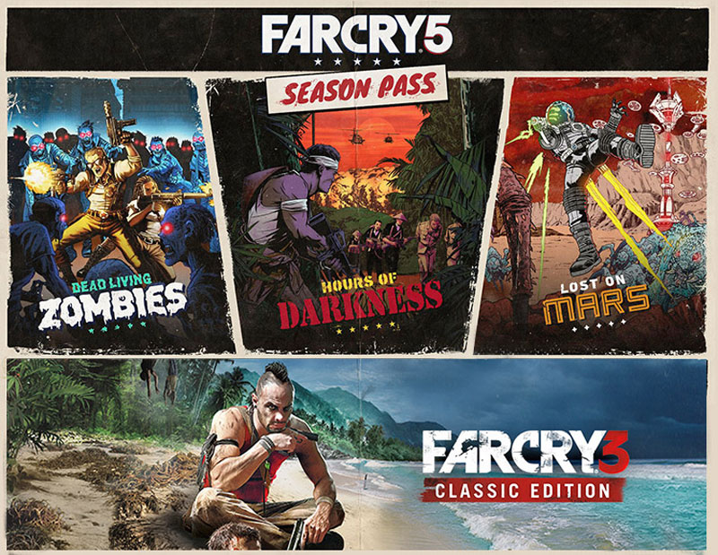 Far Cry 5.  Season Pass Ubisoft Kiev,Ubisoft Montreal,Ubisoft Reflections,Ubisoft Toronto,Ubisoft Shanghai