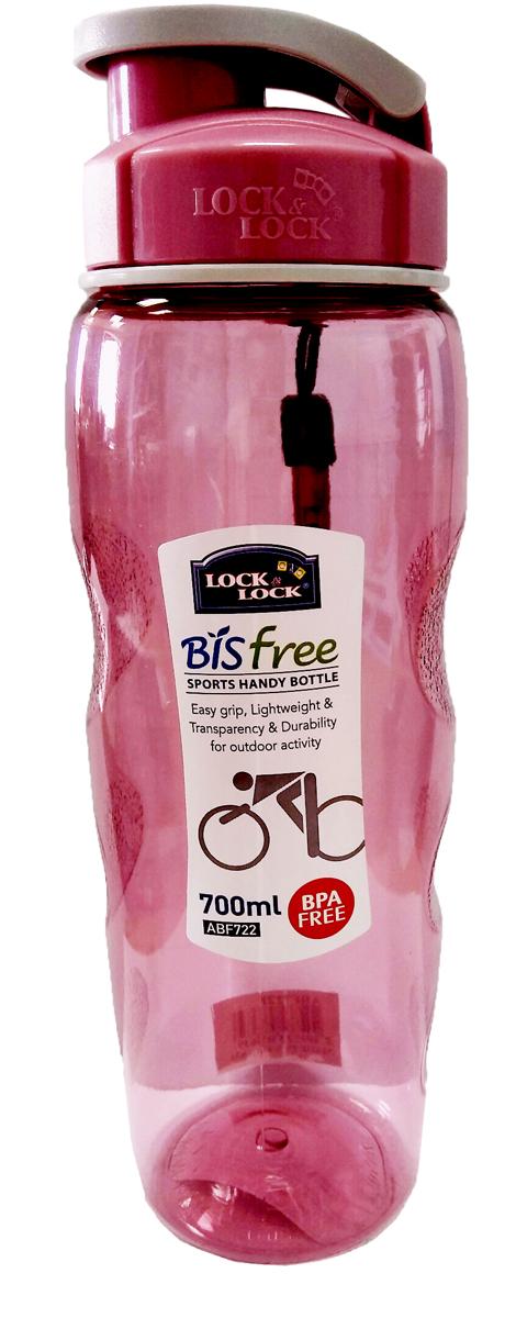 Бутылка спортивная Lock&Lock, цвет: розовый, 700 млABF722PБутылка спортивная Lock&Lock идеально подходит для занятий йогой или фитнессом насвежем воздухе. Бутылка очень легкая и практически вечная. Эргономичное горлышко означает,что вы можете пить прямо во время движения. Удобный ремешок позволяет пристегнуть бутылкук вашей сумке или рюкзаку, оставляя руки свободными. Все прозрачные бутылки для спортивных напитков Aqua изготовлены извысококачественного материала под названием Tritan. Все пластмассовые бутылки Lock&Lock несодержат БФА и безопасны как для здоровья, так и для окружающей среды.