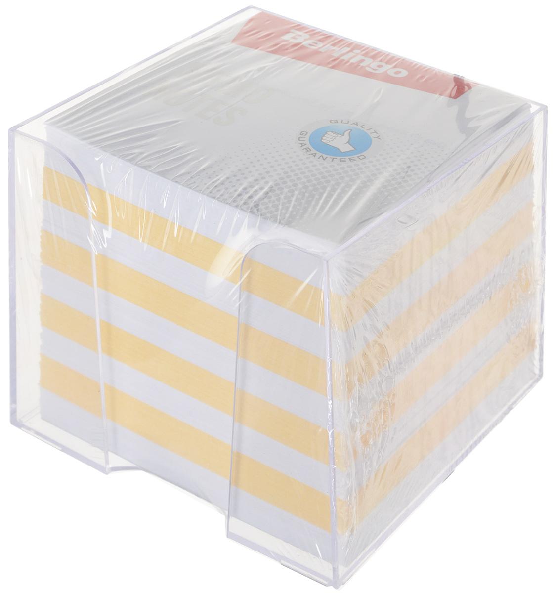 Berlingo Бумага для заметок Standard 9 х 9 х 9 см в пластиковой подставке цвет белый желтый 1000