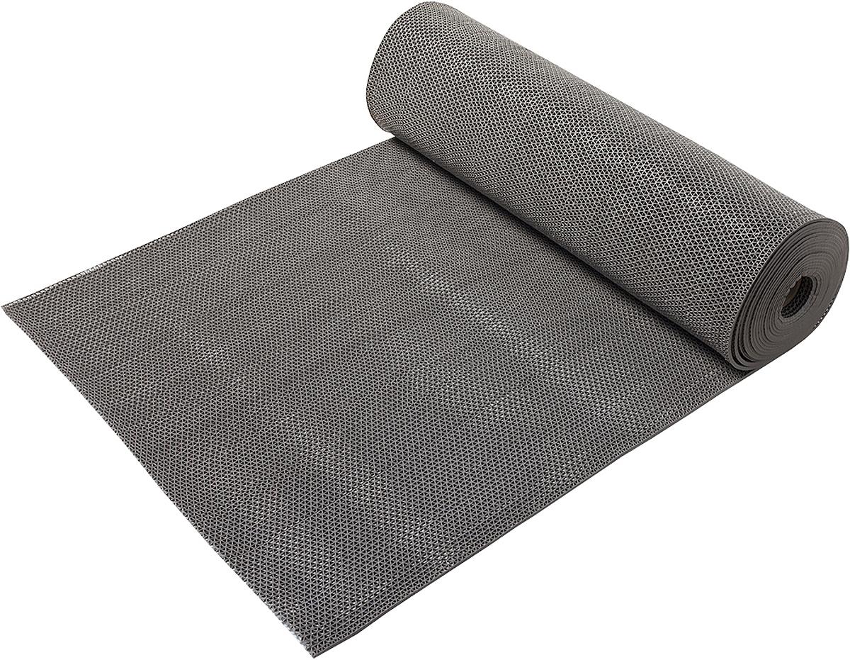Коврик-дорожка Vortex Zig-Zag, против скольжения, цвет: серый, 5 мм, 0,9 х 10 м коврик дорожка vortex zig zag против скольжения цвет черный 5 мм 0 9 х 10 м