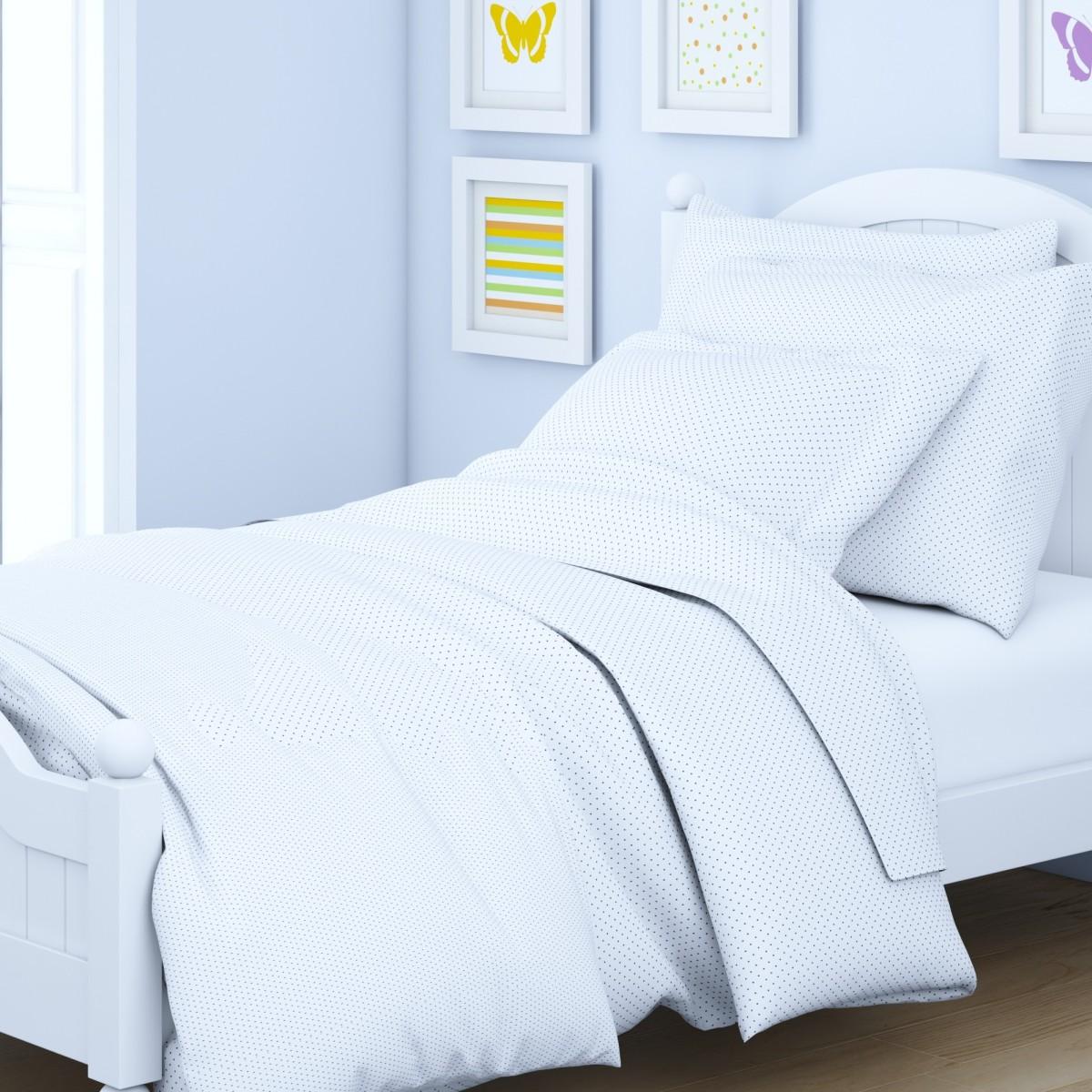 Комплект детского постельного белья Letto  Горошек , 1,5 спальный, наволочка 50x70. goroshek50 -  Детский текстиль