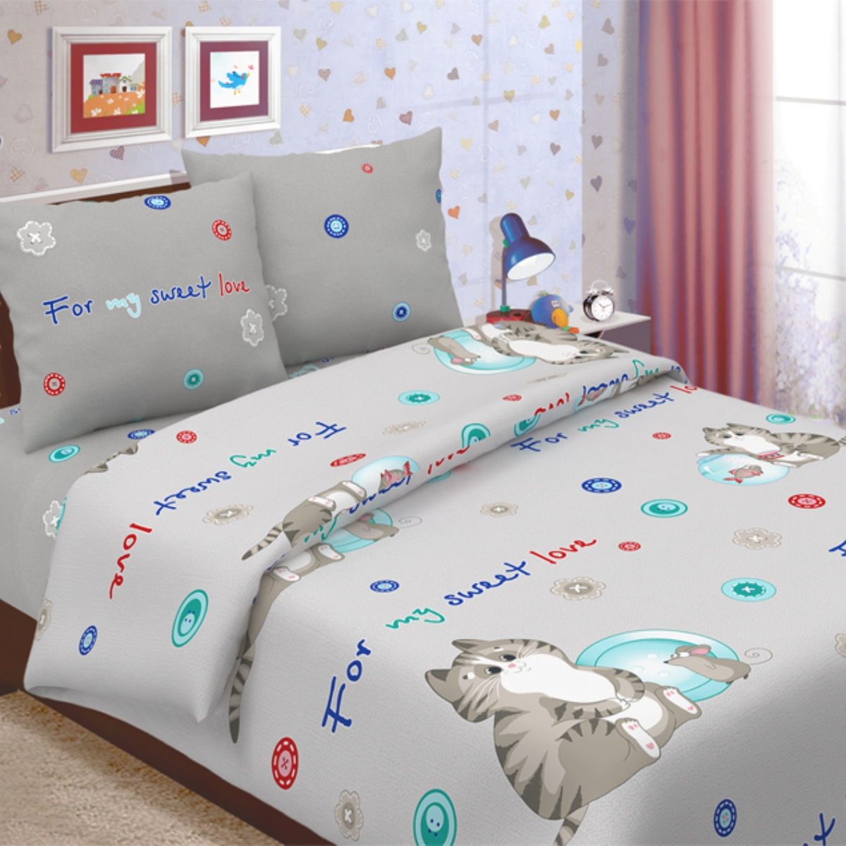 Комплект детского постельного белья Letto  Коржик , 1,5 спальный, наволочка 50x70. korzhik50 -  Детский текстиль