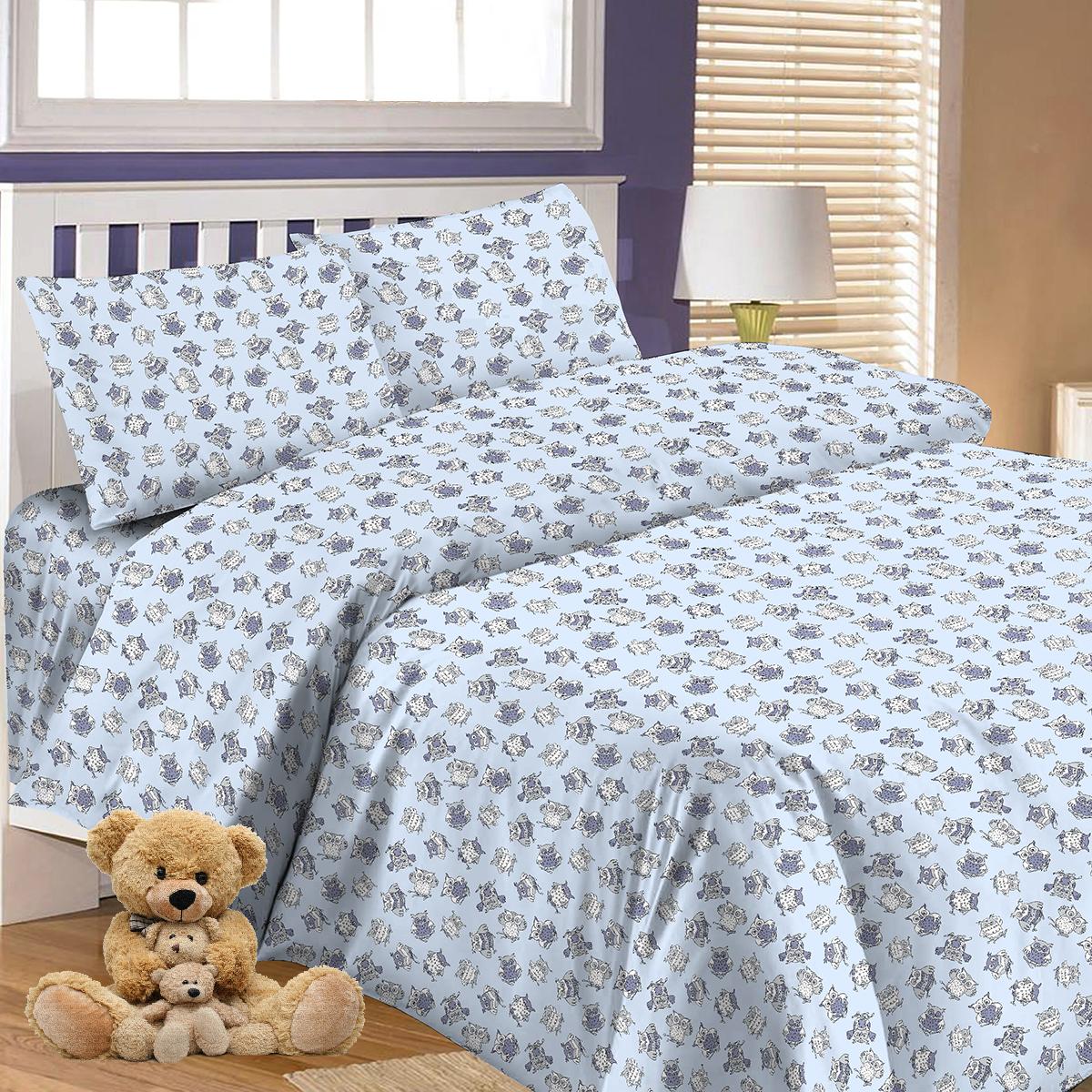 Комплект в кроватку Letto, цвет: голубой. BGR-65
