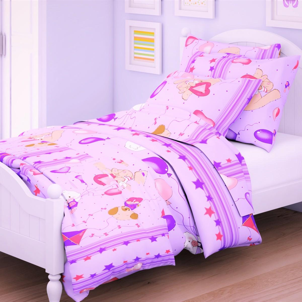 Letto Комплект в кроватку Ясли с простыней на резинке 3 предмета BGR-62, Letto Home Textile