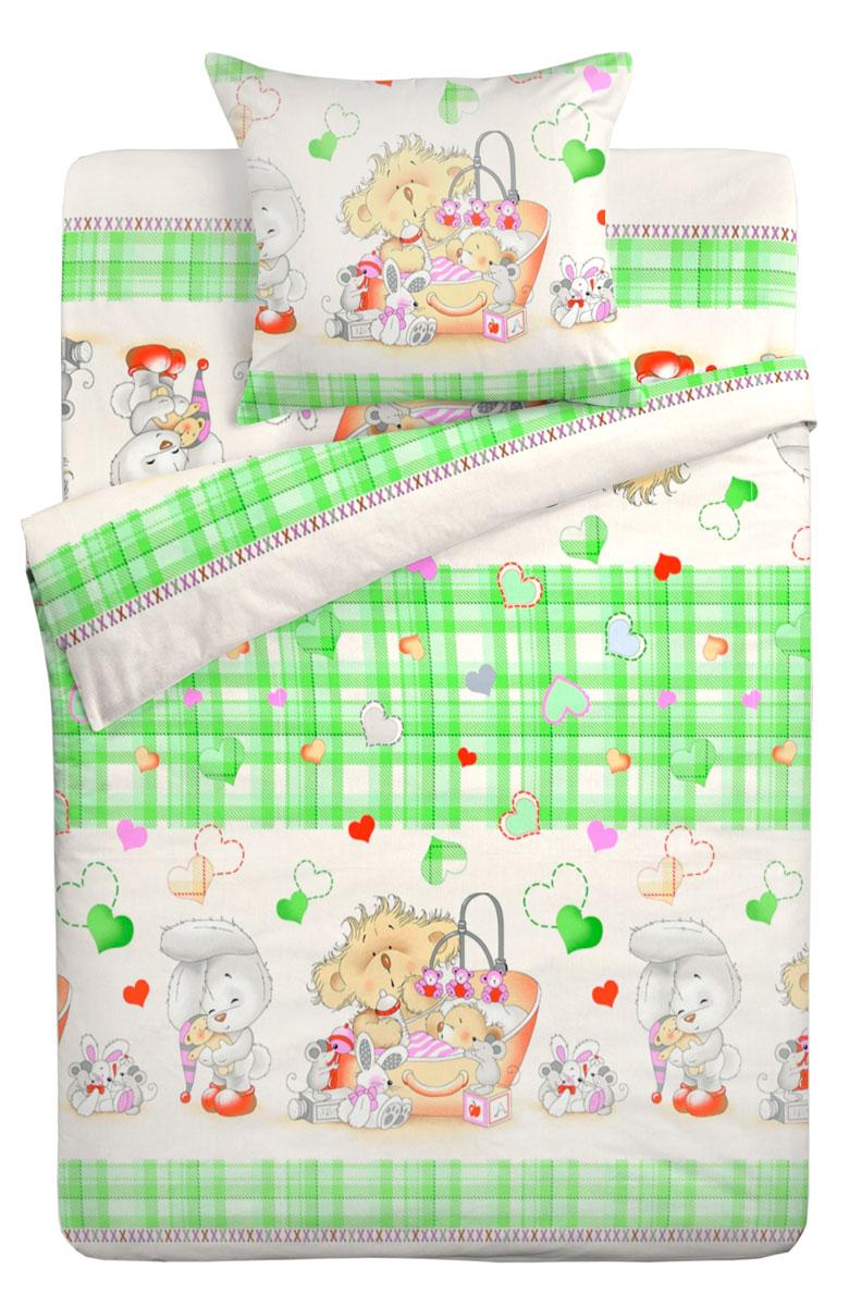 Letto Комплект в кроватку Ясли с простыней на резинке 3 предмета BGR-72 -  Детский текстиль