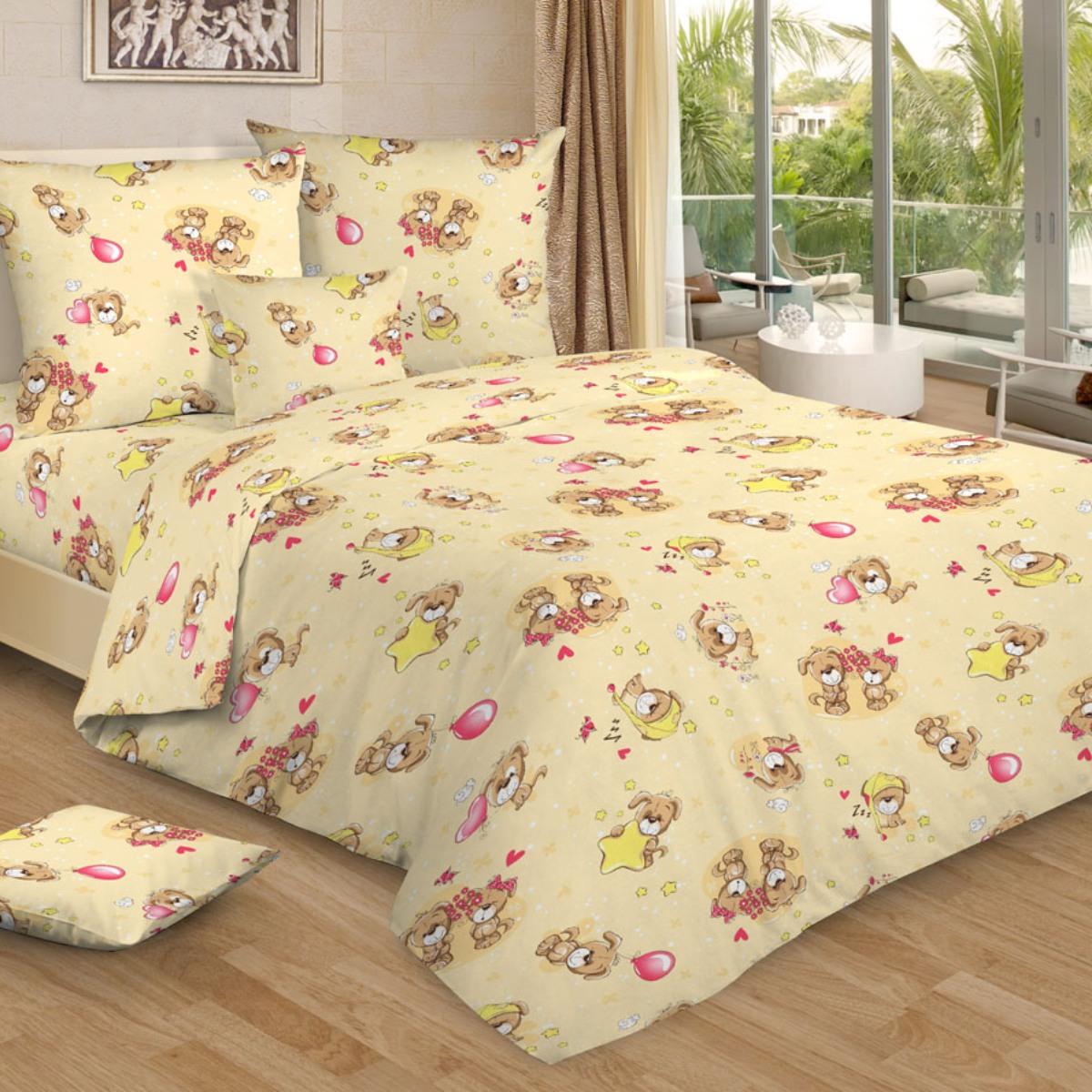 Letto Комплект в кроватку Ясли с простыней на резинке 3 предмета BGR-76 -  Детский текстиль
