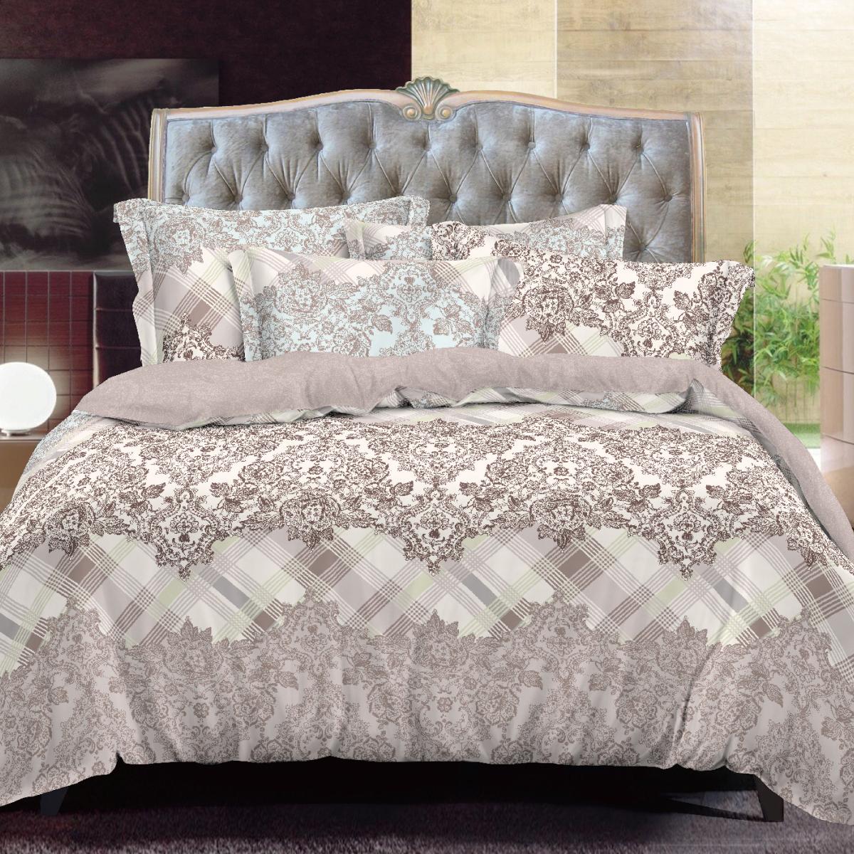 Комплект белья Letto, евро, наволочки 50х70 и 70х70. SM121-6SM121-6Классика в сатиновом исполнении - залог комфорта, модного дизайна и гармонии цвета в вашей спальне. Это отличный подарок любителям трендов. Сатин заслужено считается благородной тканью для постельного белья. Ему свойственна практичность, долговечность, мягкость и изысканный блеск, такая ткань прекрасно впитывает влагу во время сна, комфортна на ощупь и не требует особого ухода. Серия Letto Сатин - это современные дизайны в европейском стиле. Обращаем внимание, что наволочки могут отличаться от представленных на фотографии. Также может отличаться оттенок комплекта из-за разницы в цветопередаче мониторов.