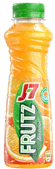 J-7 Frutz Апельсин напиток сокосодержащий с мякотью, 0,385 л yoga напиток красный апельсин фруктовый сокосодержащий 0 2 л