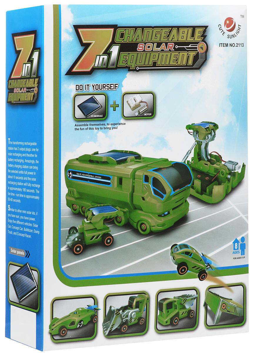 Фото - Cute Sunlight Электромеханический конструктор Автопарк 7 в 1 конструктор автомобильный парк 7 в 1