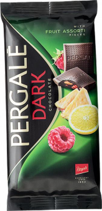 Pergale Шоколад темный фруктовое ассорти, 93 г ritter sport мята шоколад темный с мятной начинкой 100 г