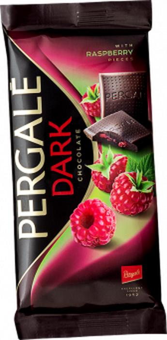 Pergale Шоколад темный с кусочками малины, 100 г ritter sport мята шоколад темный с мятной начинкой 100 г
