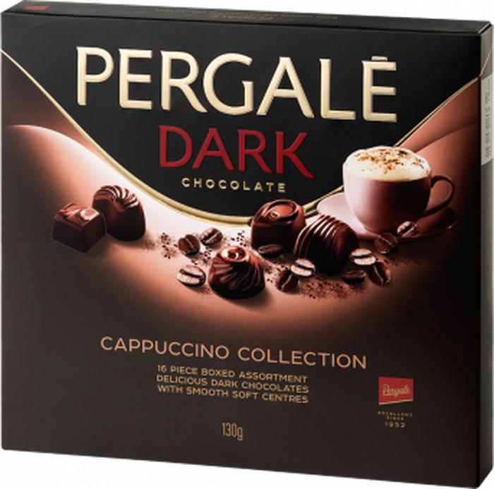 Pergale набор шоколадных конфет из темного шоколада со вкусом капучино, 130 г набор конфет pergale dark розы ассорти 382г