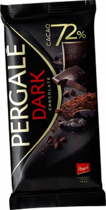Pergale Шоколад горький 72 % , 100 г pergale шоколад темный с кусочками клюквы 100 г