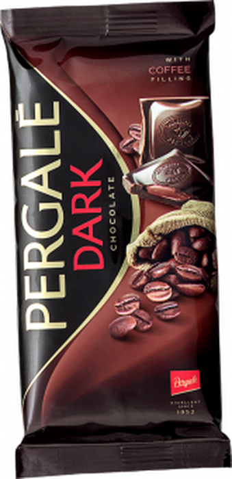 Pergale Шоколад темный с кофейной начинкой, 100 г ritter sport мята шоколад темный с мятной начинкой 100 г