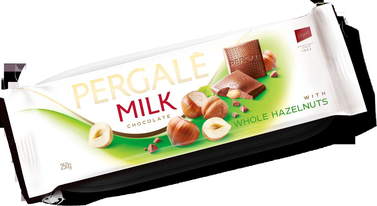 Pergale Шоколад молочный с цельным фундуком, 250 г chokocat спасибо молочный шоколад 60 г