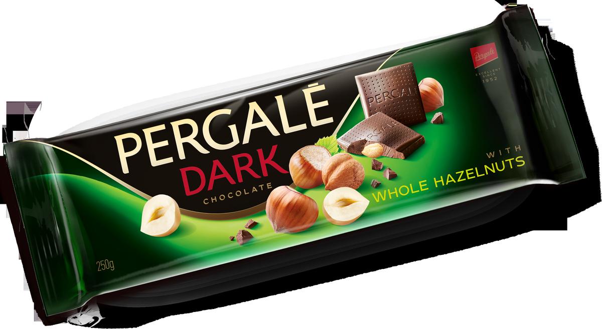 Pergale Шоколад темный с цельным фундуком , 250 г кондитерские изделия