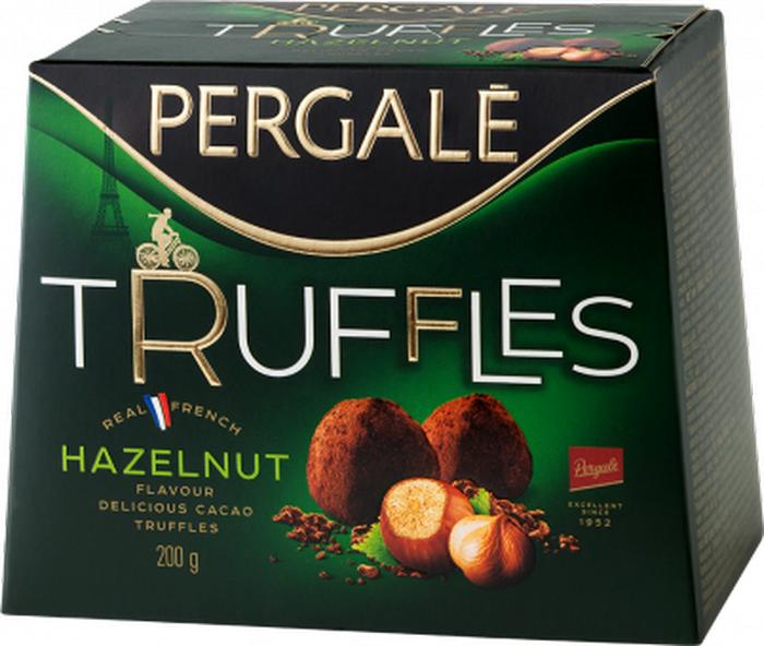 Pergale Трюфели с ореховым вкусом, 200 г набор конфет pergale dark розы ассорти 382г