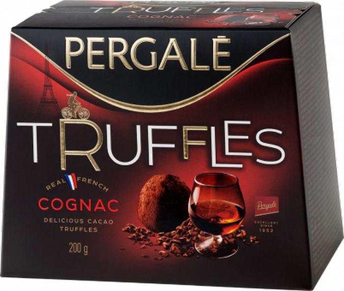 Pergale Трюфели с коньяком, 200 г пудовъ кексики шоколадные 250 г