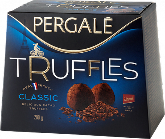Pergale Трюфели классические, 200 г набор конфет pergale dark розы ассорти 382г