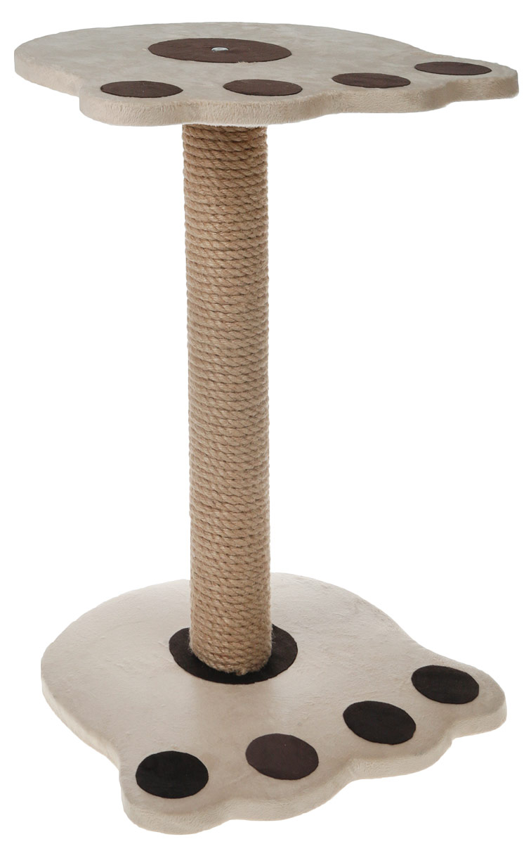 Когтеточка Неженка Лапа, цвет: бежевый, темно-коричневый, 35 х 37 х 58 см стол складной greenell эйр ft 14 цвет бежевый коричневый 81 х 56 х 53 см