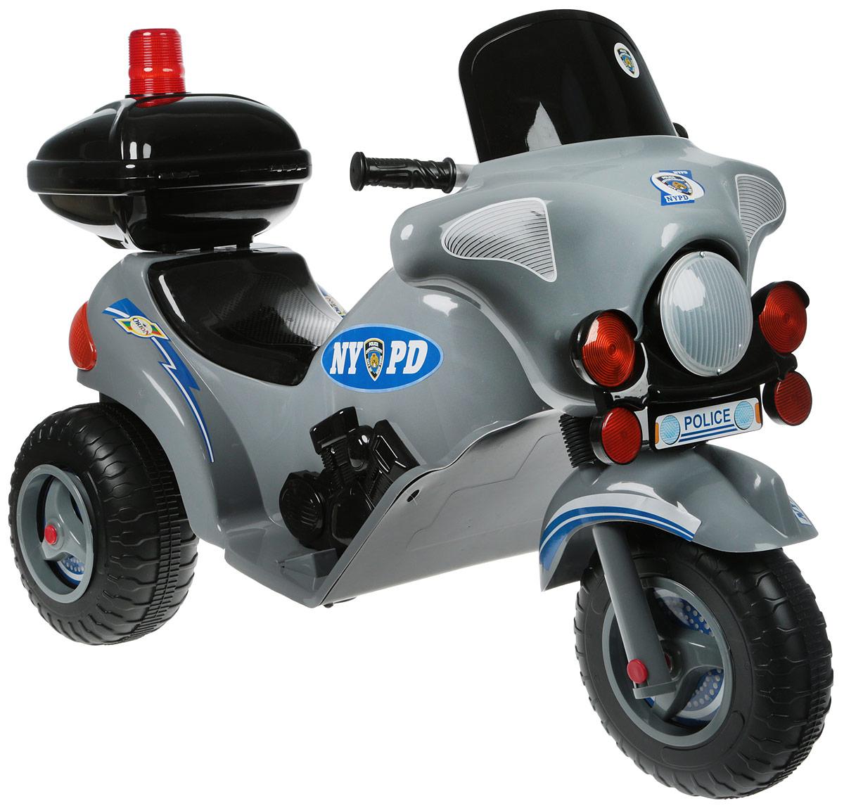 Орион Электромотоцикл с маячком 372 цвет черный