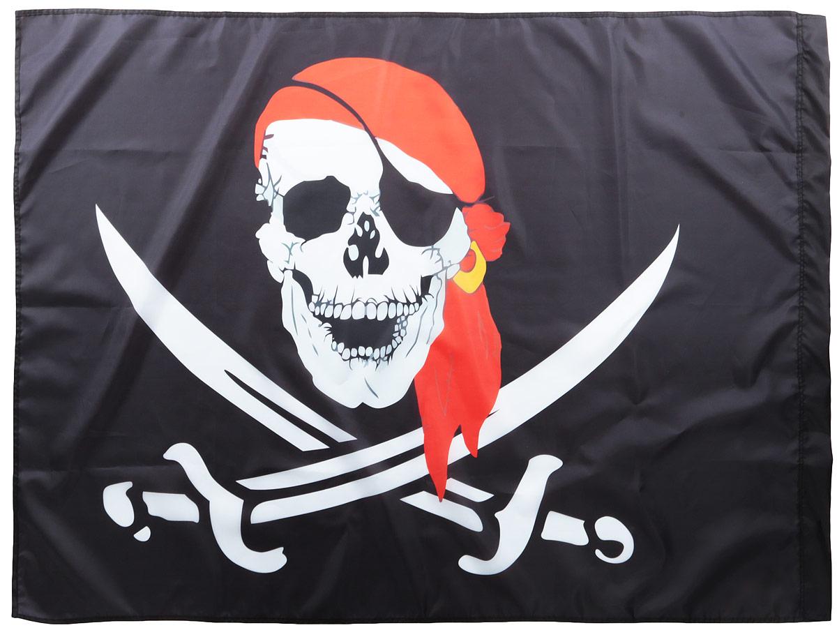 """Фото Флаг Ratel """"Пиратский. Красная бандана"""", двухсторонний, 90 х 135 см"""