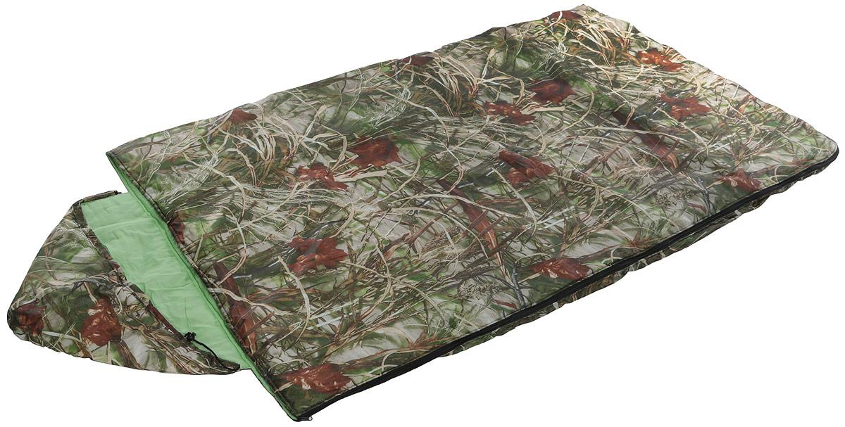 Спальный мешок Onlitop Престиж, увеличенный, правосторонняя молния, цвет: хаки спальный мешок onlitop престиж цвет черный бежевый правосторонняя молния 1344029