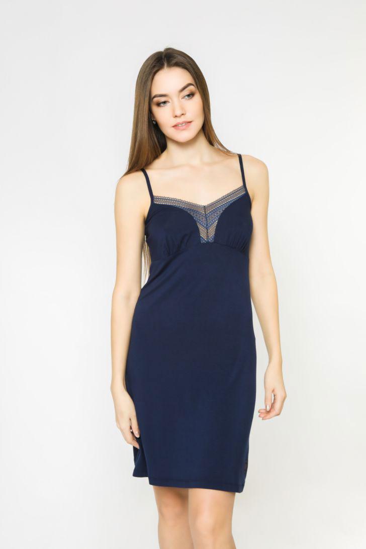 Ночная рубашка женская Melado Sandal, цвет: темно-синий. 8204L-60004.1S-736.429. Размер 52 ночная рубашка женская коллекция цвет темно синий осрн 18 размер 56