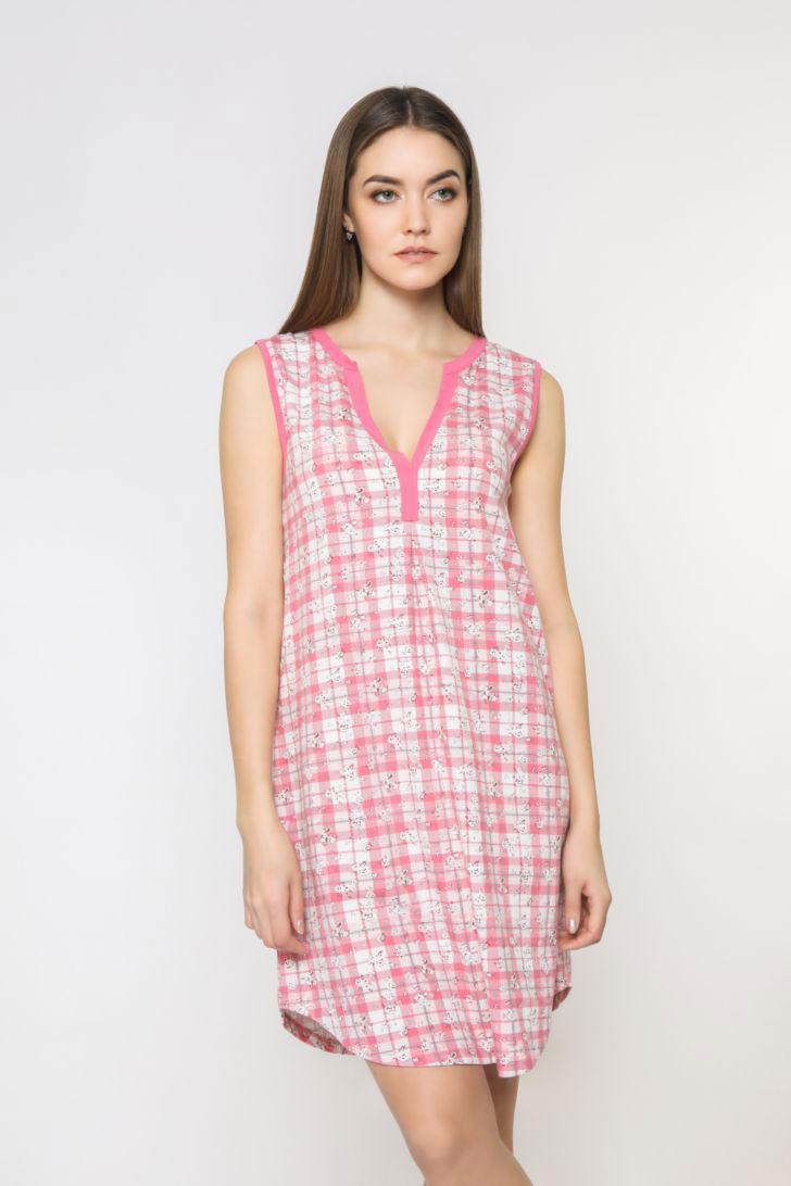 Платье домашнее женское Melado Pretty, цвет: розовый. 8206P-60007.1S-052. Размер 50 платье домашнее melado вивьен цвет бежевый ml2170 01 размер 48