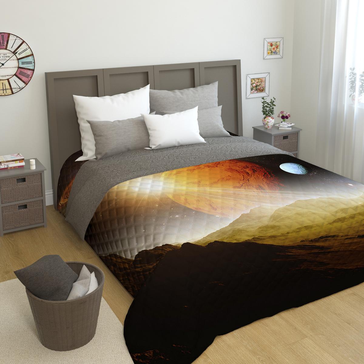 Покрывало стеганое Сирень Сатурн, 200 х 220 смПКМК005-01105Стеганое покрывало Сирень - это правильный выбор для любой хозяйки. Стеганые покрывала выгодно преобразят дизайн любого интерьера спальни. При изготовлении используется плотная микрофибра. В сочетании со стильным и четким рисунком, созданным с помощью 3D фотопечати стеганые покрывала всегда будут отличным приобретением для Вашей спальни и подарком для друзей и близких! Рисунок стежки выполнен современным способом Ультрастэп (без использования ниток). Использование данного способа стежки защищает от миграции волокна во время стирки в деликатном режиме при температуре 30 градусов. Размер 200*220 (+/- 2см ) Наволочки в комплект не входят. Покрывало легко стирать при 30-40 градусов, гладить при 150 градусах, не отбеливать. Цвет покрывала в комплектации может немного отличаться от представленного на фото.