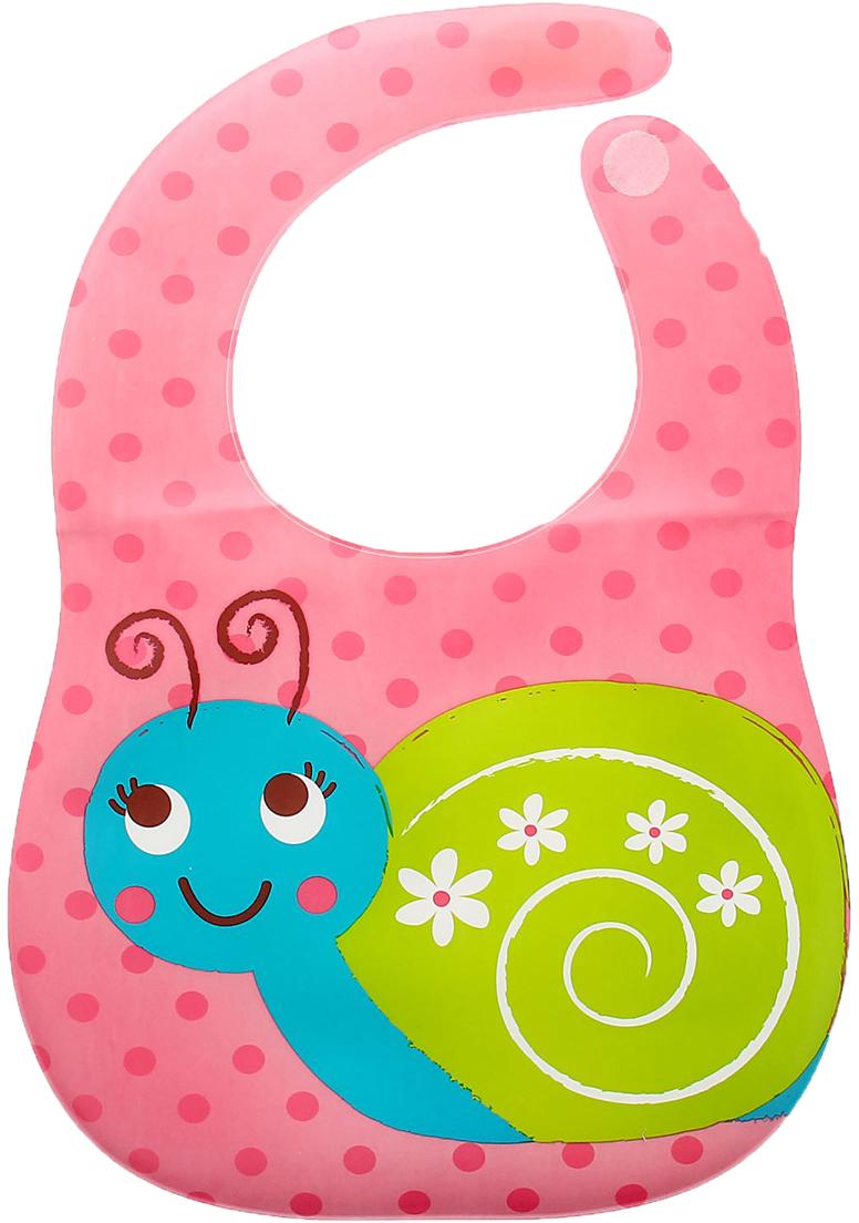 Крошка Я Нагрудник Улитка на липучке крошка я нагрудник игрушки для малышек