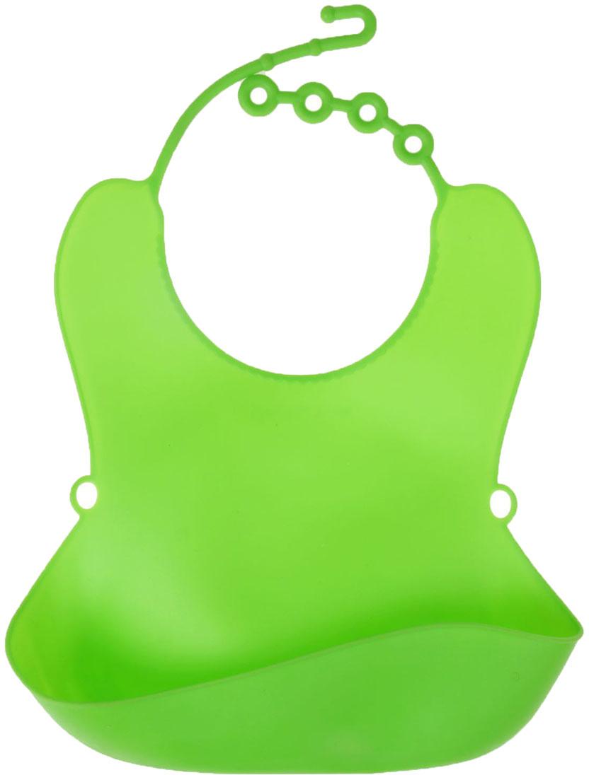 Крошка Я Нагрудник цвет зеленый 1385790 крошка я нагрудник игрушки для малышек