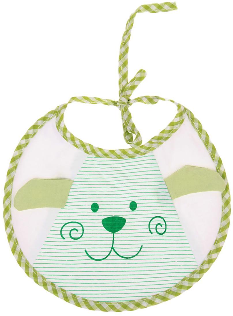 Крошка Я Нагрудник Дружок цвет зеленый