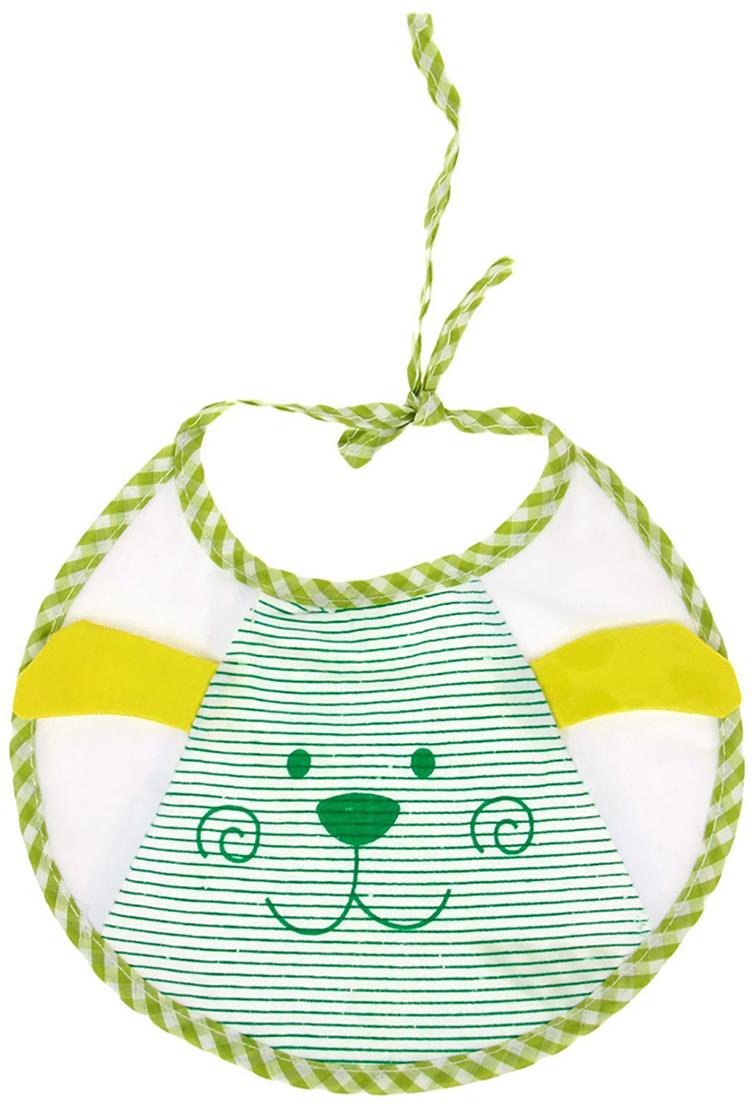 Крошка Я Нагрудник Дружок цвет зеленый желтый
