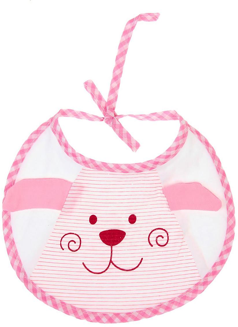 Крошка Я Нагрудник Дружок цвет розовый