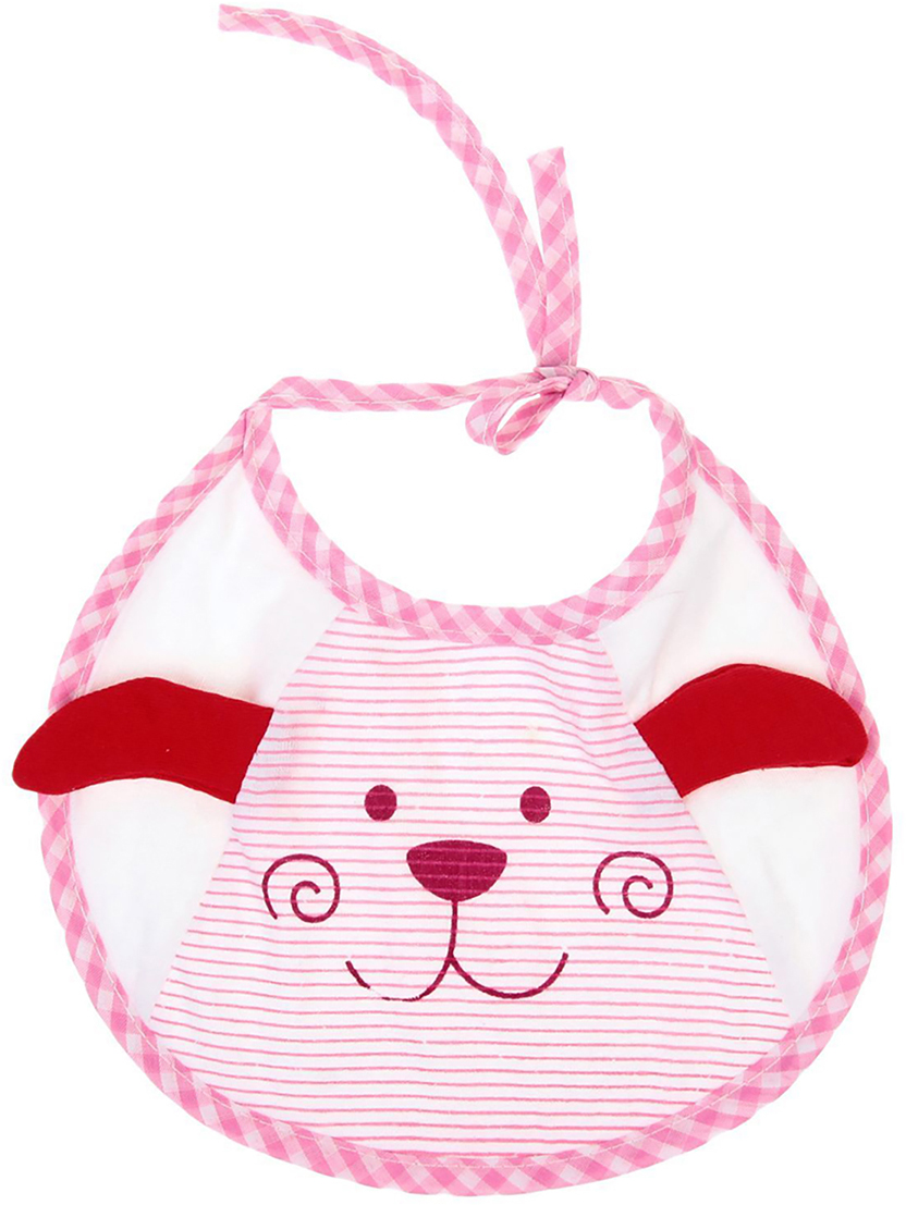 Крошка Я Нагрудник Дружок цвет розовый красный